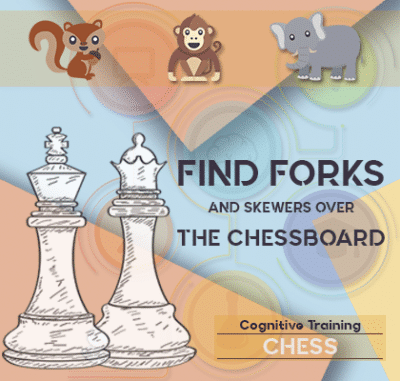 ADHD find forks and skewers over the chessboard